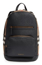 Burberry Men's 'Marden' Check And Embossed Leather Backpack