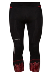 Craft Tights Black Bright Red