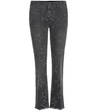 Stella Mccartney Distressed Flared Jeans Black