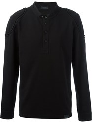 Belstaff 'Shoreham' Collarless Polo Shirt Black