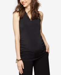 A Pea In The Pod Maternity Ruched Tank Top Black