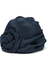Gucci Knotted Silk Turban Navy