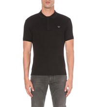 Armani Jeans Cotton Jersey Polo Shirt Black