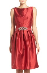 Eliza J Women's Taffeta Fit And Flare Dress