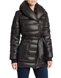 Kenneth Cole Reaction Belted Puffer Coat Black