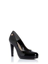 Morgan Court Shoe With Stiletto Heel Black