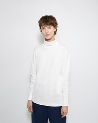 Blue Blue Japan Rib Knit Turtleneck Tee Natural