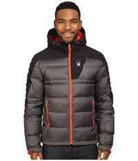 Spyder Bernese Down Jacket Polar Black Rage Men's Coat Brown
