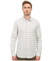 John Varvatos Slim Fit Sport Shirt With Contrast Turnback Placket W434s2l Chalk Men's Long Sleeve Button Up White