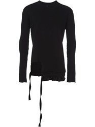 Barbara I Gongini Longsleeved Asymmetric T Shirt Black