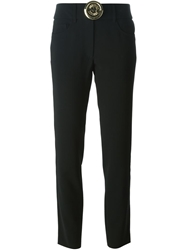 Moschino Button Detail Trousers Black