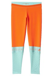Adidas Performance Stella Sport Tights Solar Red Joy Green Orange