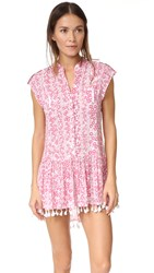 Poupette St Barth Heni Mini Dress Pink Button
