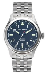 Men's Jack Mason Brand 'Aviation' Bracelet Watch 42Mm