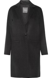 Theory Peirette Wool And Cashmere Blend Coat Black