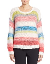 424 Fifth Slouchy Striped Pullover Ivory Multi