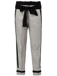 A.F.Vandevorst Prince Of Wales Check Trousers Grey