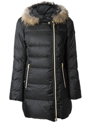 Peuterey Trimmed Hood Padded Jacket Black