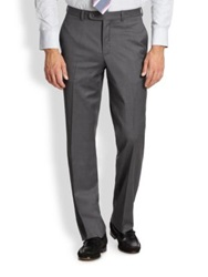 Saks Fifth Avenue Wool Dress Pants Navy Mid Grey Charcoal