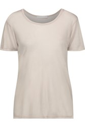 Kain Label Abilene Modal And Silk Blend T Shirt Mushroom