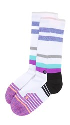 Stance Athletic Crew Dugout Socks White