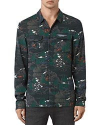 Allsaints Redfern Slim Fit Button Down Shirt Washed Black