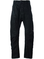 11 By Boris Bidjan Saberi Destroyed Loose Fit Trousers Black