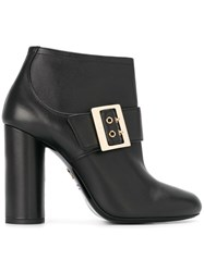 Lanvin Mary Jane Ankle Boots Black