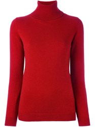 Allude Turtle Neck Sweater Red
