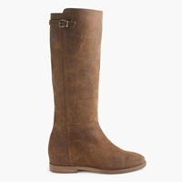 J.Crew Langston Tall Interior Wedge Boots With Extended Calf Wine Barrel