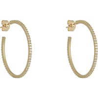 Tate Women's Diamond Hoops No Color