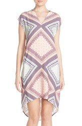 Women's Charlie Jade Print Crepe High Low Shift Dress