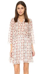 Suno Tie Waist Dress Kaleidoscope Floral Nude