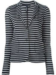 Woolrich Striped Button Down Cardigan Blue