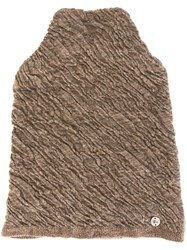 Lost And Found Ria Dunn Thermal Beanie Brown