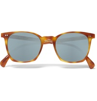 Oliver Peoples L.A. Coen Square Frame Acetate Sunglasses Brown