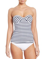 Vince Camuto Shore Side Underwire Tankini Top Navy Blue