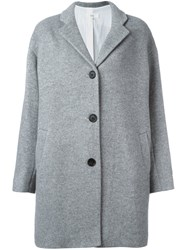 Vanessa Bruno Athe Single Breasted Oversized Coat Grey