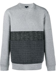 Lanvin Contrast Panel Sweatshirt Grey