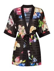 Ted Baker Wrenna Kimono Cover Up Black