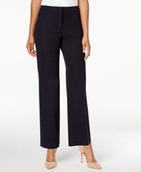 Charter Club Wide Leg Cropped Pants Only At Macy's Deepest Navy