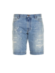 Dolce And Gabbana Distressed Denim Shorts