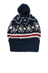 Thom Browne Norwegian Fair Isle Beanie In Blue