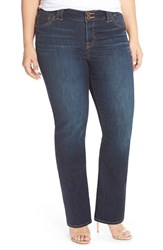 Lucky Brand Plus Size Women's 'Emma' Stretch Bootcut Jeans Blue