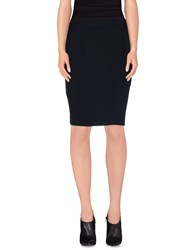 Darling Skirts Knee Length Skirts Women Dark Blue