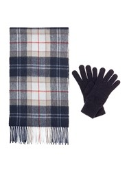Barbour Scarf And Glove Gift Box Set Neutral