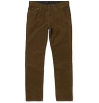 Michael Kors Slim Fit Stretch Cotton Corduroy Trousers Brown