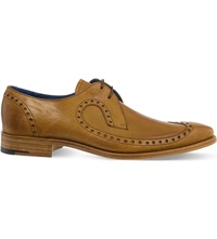 Barker Woody Wingcap Derby Shoes Tan