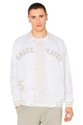 Undefeated Mesh Varsity Jacket White