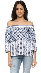 Miguelina August Beach Blouse Pure White